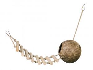 Nobby kokosrieksta čaulas māja ar kāpnēm
