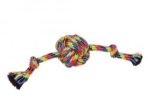NOBBY Rotaļlieta-virve ar bumbu un diviem mezgliem