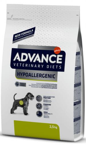 ADVANCE VETERINARY DIETS HYPOALLERGENIC sausā barība suņiem 2.5kg