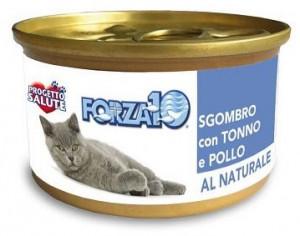 Forza10 - konservi kaķiem NATURAL makrele ar tunci un vistu 6 x 75g