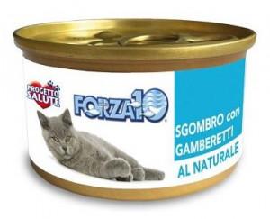 Forza10 - konservi kaķiem NATURAL makrele ar garnelēm 6 x 75g