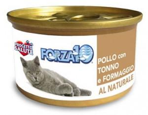Forza10 - konservi kaķiem NATURAL vista ar tunci un sieru 6 x 75g