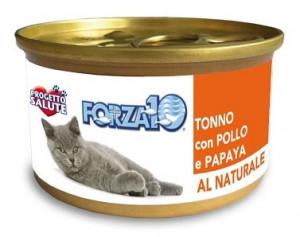 Forza10 - konservi kaķiem NATURAL ar vistu un papaiju 6 x 75g