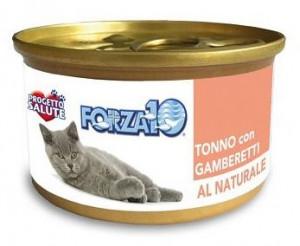 Forza10 - konservi kaķiem NATURAL tuncis ar garnelēm 6 x 75g