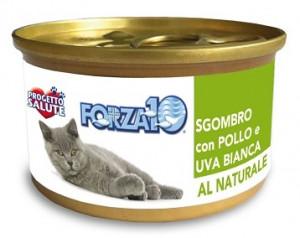 Forza10 - konservi kaķiem NATURAL makrele ar gaišajām vīnogām un vistu 6 x 75g