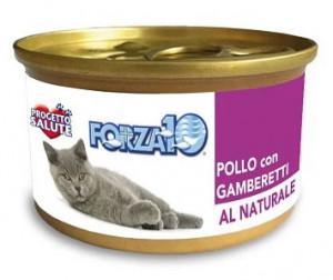 Forza10 - konservi kaķiem NATURAL ar vistu un garnelēm 6 x 75g