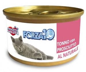 Forza10 - konservi kaķiem NATURAL ar tunci un bekonu 6 x 75g
