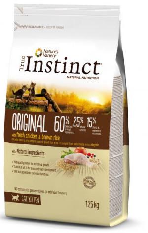 True Instinct Original Kitten - Кaķēniem no 2 līdz 12 menešiem (vista un rīsi) 1.3kg
