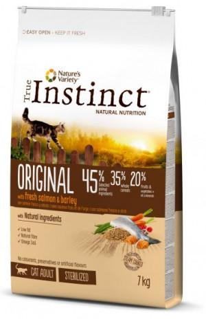 True Instinct Original Adult Sterilized - Pieaugušiem kaķiem (lasis un rīsi) 7kg