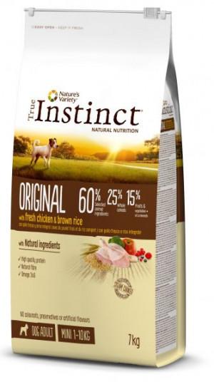 True Instinct Original Mini Adult - Mazo šķirņu suņiem (vista un rīsi) 7kg