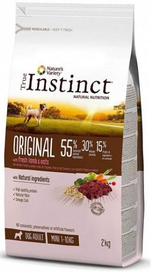 True Instinct Original Mini Adult - Mazo šķirņu suņiem (jērs un auzas) 2kg