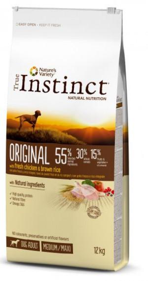 True Instinct Original Medium/Maxi Adult - Lielo un vidējo šķirņu suņiem (vista un rīsi) 600g