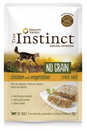 True Instinct No Grain Cat Chicken - Konservēta barība kaķiem (vista) 8 x 70g