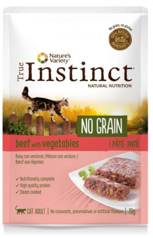 True Instinct No Grain Cat Beef - Konservēta barība-pastēte kaķiem (teļa gaļa) 8 x 70g