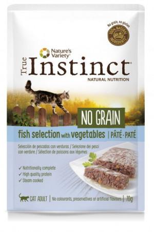 True Instinct No Grain Cat Fish - Konservēta barība-pastēte kaķiem (zivju izlase) 8 x 70g