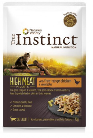 True Instinct High Meat Cat Chicken - Konservēta barība kaķiem (vista) 8 x 70g