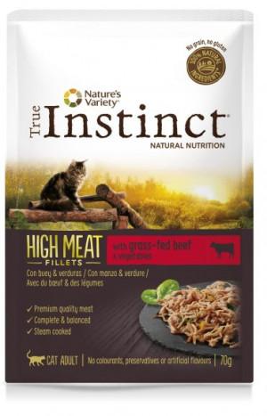True Instinct High Meat Cat Beef - Konservēta barība kaķiem (liellops) 8 x 70g