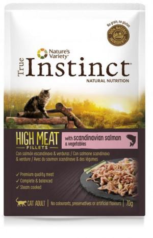True Instinct High Meat Cat Salmon - Konservēta barība kaķiem (lasis) 8 x 70g
