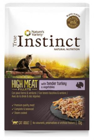 True Instinct High Meat Cat Turkey - Konservēta barība kaķiem (tītars) 8 x 70g