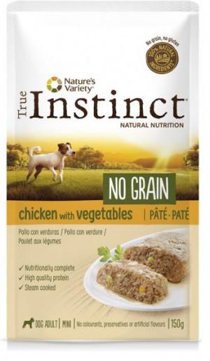 True Instinct No Grain Mini Chicken - Konservēta barība-pastēte suņiem (100% vista) 8 x 150g