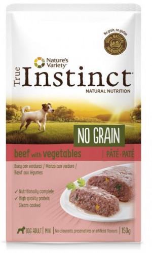 True Instinct No Grain Mini Beef - Konservēta barība-pastēte suņiem (liellops) 8 x 150g