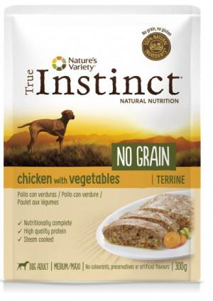 True Instinct No Grain Maxi Chicken - Konservēta barība-pastēte suņiem (100% vista) 8 x 300g