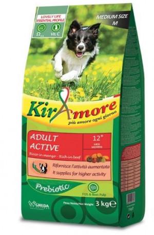 KIRAMORE DOG ACTIVE MEDIUM Sausā barība  LIELLOPS 15KG