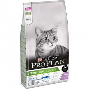 PRO PLAN STERILISED Cat SENIOR (LONGEVIS) 7+ sausā barība sterilizētiem kaķiem 1.5kg