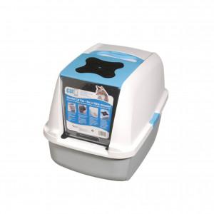 Hagen CAT IT Design Slēgtā kaķu tualete 56x38cm Gaiši zila