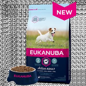 Eukanuba Adult Small Breed Chicken - mazo šķirņu suņiem ar vistas gaļu 3kg