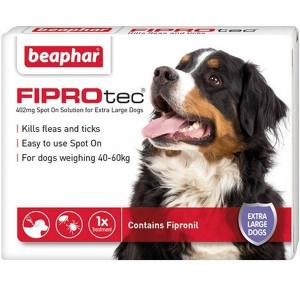 Beaphar FIPROtec® Spot-On 402mg šķīdums (pipete) pret blusām un ērcēm pilināšanai uz ādas lielajiem suņiem N1