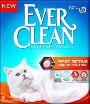EverClean Fast Acting ātras iedarbības cementējošās smiltis kaķu tualetei 6L
