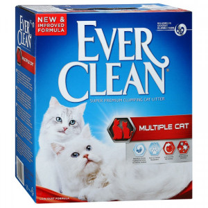 Ever Clean Multiple Cat cementējošās smiltis kaķu tualetēm 6 L
