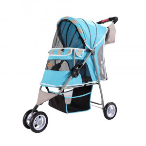 Innopet Matte Edition Stripes Pet Stroller Ocean Blue ratiņi 80 x 44 x 90 cm