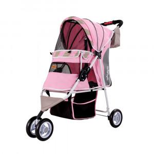 Innopet Matte Edition Stripes Pet Stroller Sugar Pink ratiņi 80 x 44 x 90 cm