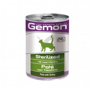 GEMON Cat Paté Sterilized with turkey 400 g - pastēte ar tītaru