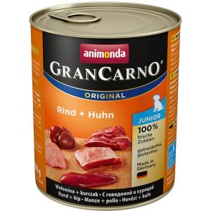 Animonda GranCarno Junior konservi kucēniem - liellops un cālis 800g