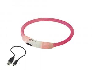 "NOBBY LED izgaismojoša kaklasiksna ""VISIBLE"" rozā"