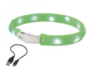"NOBBY LED plata izgaismojoša kaklasiksna ""VISIBLE"", zaļa"