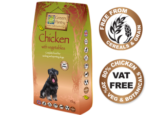 Green Dog Grain Free For Working Dogs 80% Chicken with 20% Vegetables 12kg