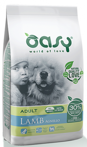 OASY Dog Dry Monoprotein Adult All Breed Agnello With Lamb 12kg