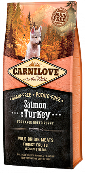 Carnilove Salmon & Turkey for Large Breed Puppy 2 x 12kg