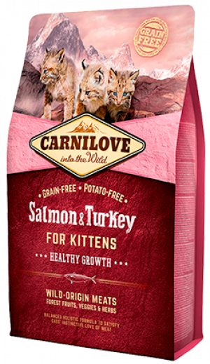 Carnilove Cat Salmon & Turkey for Kittens 2kg