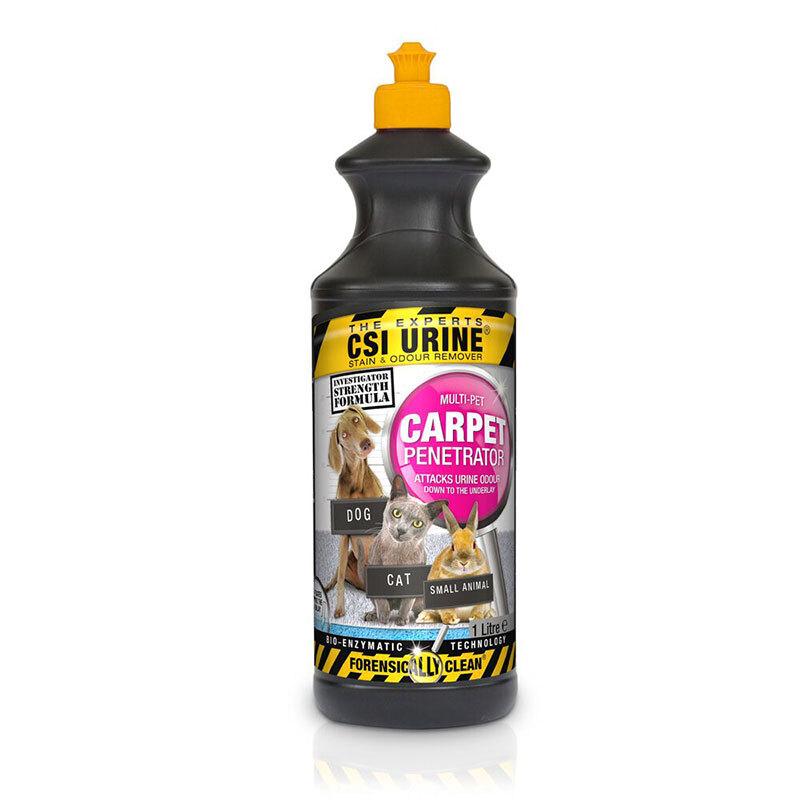 CSI URINE® Multi-Pet Carpet Penetrator Dzīvnieku urīna traipu un smakas noņēmējs paklājiem 1L