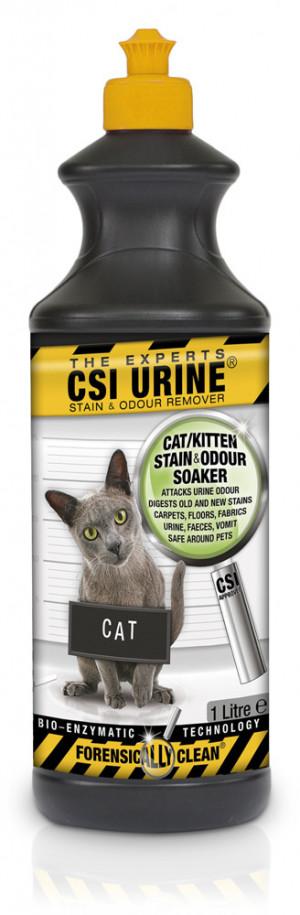CSI URINE® Stain & Odour Remover CAT Kaķu urīna smakas un traipu noņēmējs 1L
