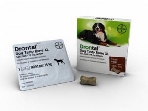 Drontal Dog Flavour XL  525/504/175 mg tabletes  lielu suņu attārpošanai 2tbl/ N2