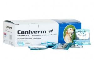 Caniverm 0.7 g tabletes suņu un kaķu attārpošanai 1tbl uz10kg /  komplekts 4 tbl