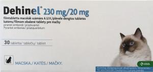 DEHINEL CAT 230MG/20MG  attārpošanas līdzeklis kaķiem N1, komplekts no 4 tabletēm
