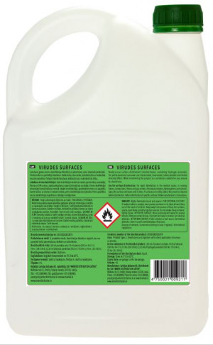Dezinfekcijas līdzeklis virsmām VIRUDES SURFACES  4l