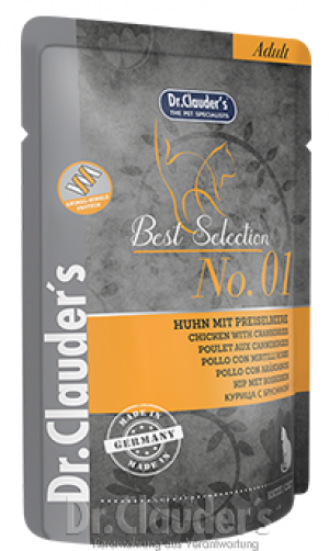 Dr.Clauder's Super Premium Pouch Nr.1 CHICKEN & CRANBERRY 6 x 85g